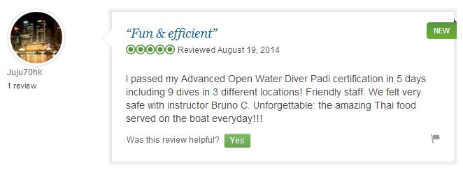 Tripadvisor Review Lotus Diving